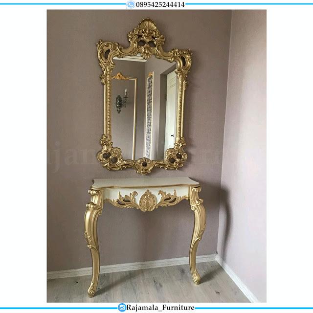 New Set Meja Konsul Mewah Terbaru Luxury Carving Jepara RM-0525