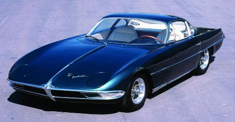 Which was the first production car of Lamborghini?