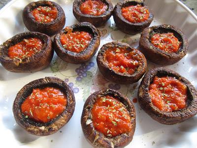 Champiñones pizza Portobello Thermomix