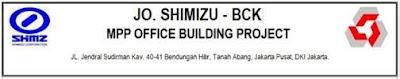 Lowongan Kerja JO. Shimizu-Bck MPP