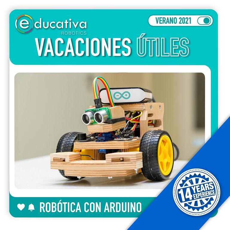 Estas Vacaciones Útiles Verano 2021 aprende Robótica Arduino