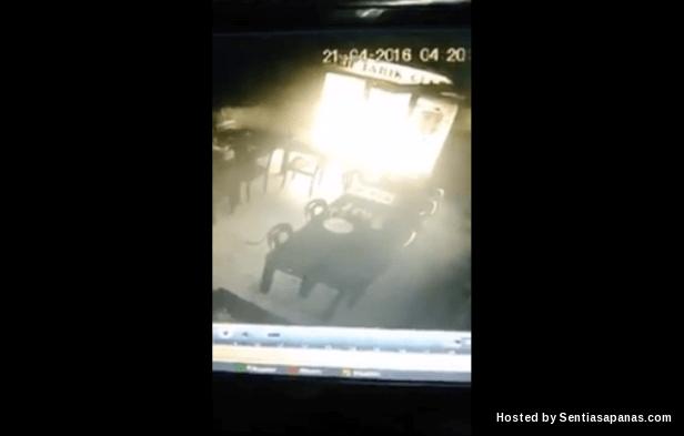 Cahaya Misteri Berjaya Dirakam CCTV
