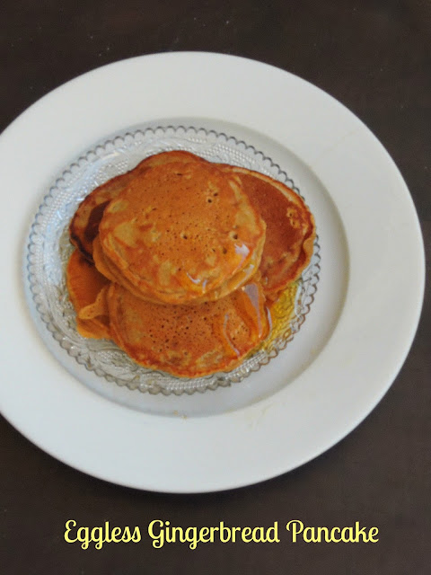 Gingerbread pancake, Eggless Gingerbread pancake