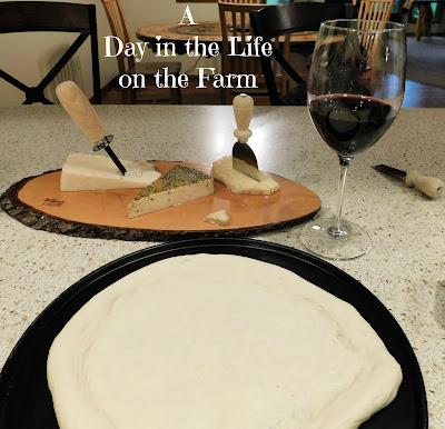 Wine, Cheeseboard and pizza Crust