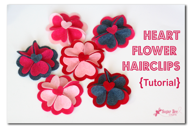 Heart Felt Flower Hairclip With Lifestyle Crafts Sugar