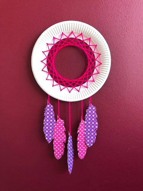 DIY-Basteltipp für einen Traumfänger aus einem Pappteller von Ars Vera