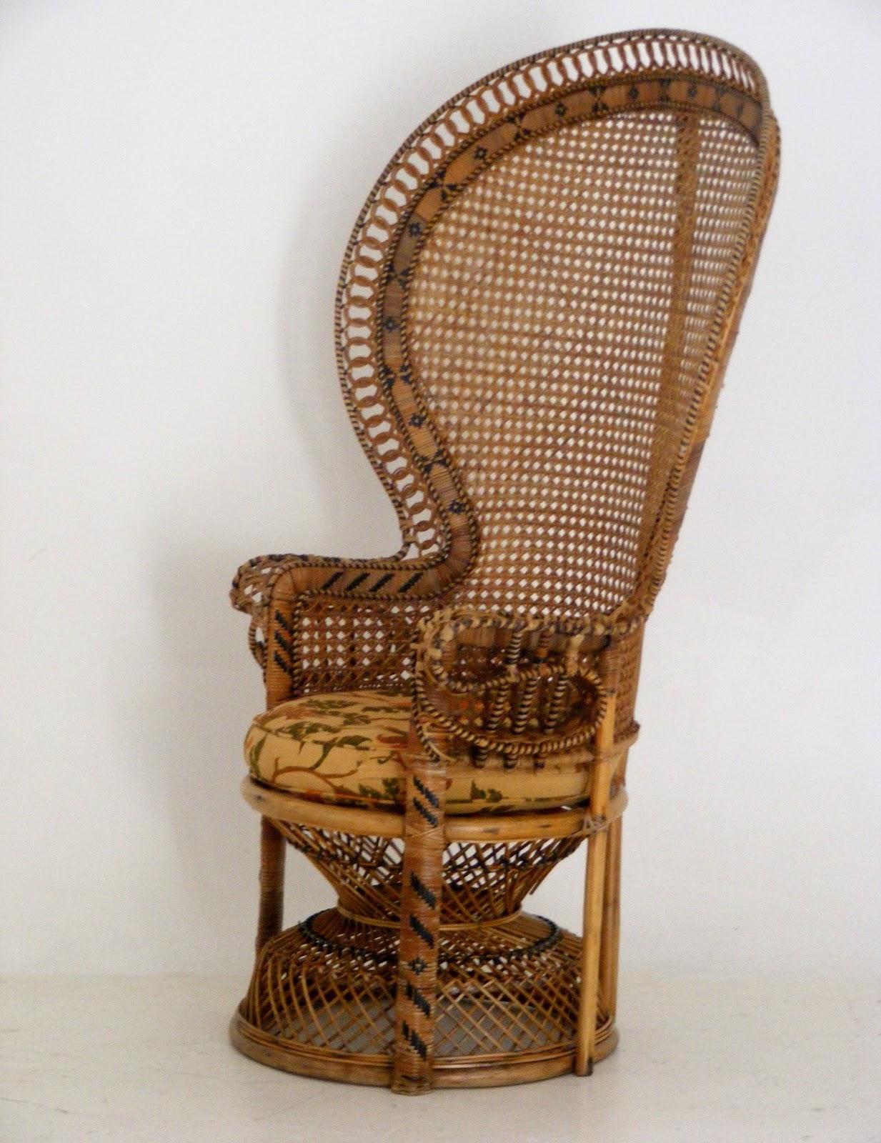 Vintage Peacock Chair Mini Papasan Cushion Vamp Furniture A At 22