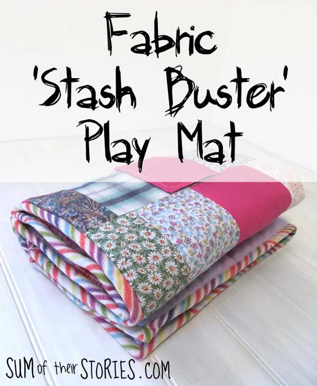 Learn how to make a baby playmat. Tutorial by Sum of their Stories