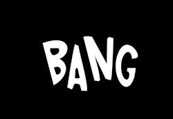 Imagenes Sin Copyright Bang Onomatopeya En Blanco Y Negro