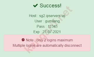 detail akun ssh websocket