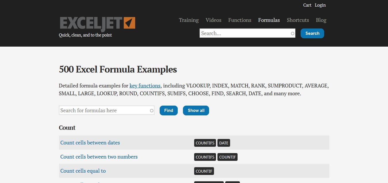 موقع يوفر لك أشهر 500 دالة في الاكسل مع أمثلة على استخدامها وبالصور