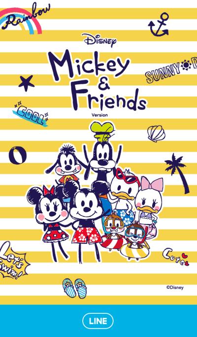 ミッキー&フレンズの夏休み(らくがき)