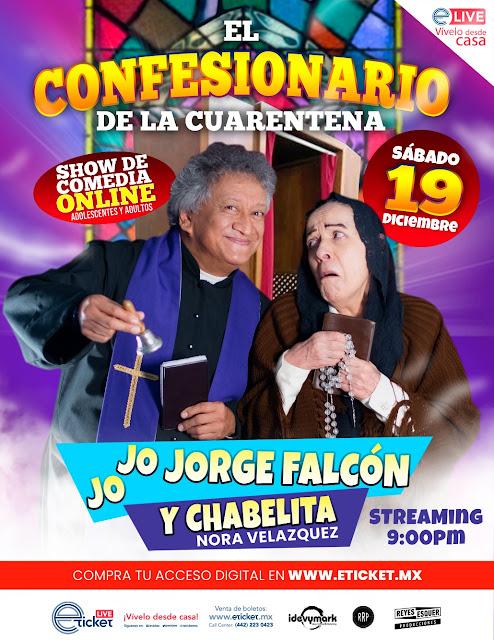 """Jorge Falcón y Chabelita presentarán """"EL Confesionario de la Cuarentena"""" en streaming"""