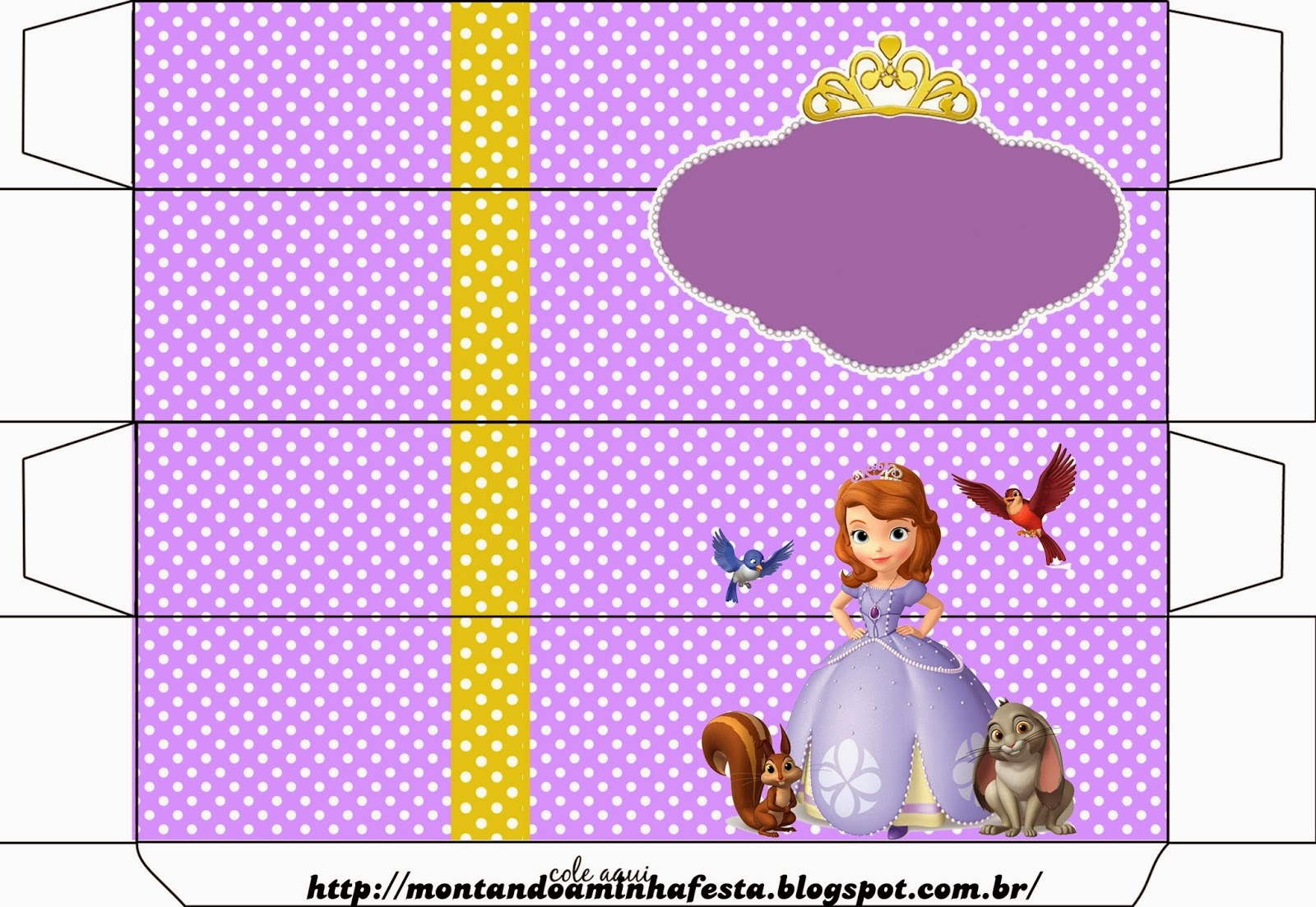 Fiesta De Princesa Sof 237 A Cajas Para Imprimir Gratis