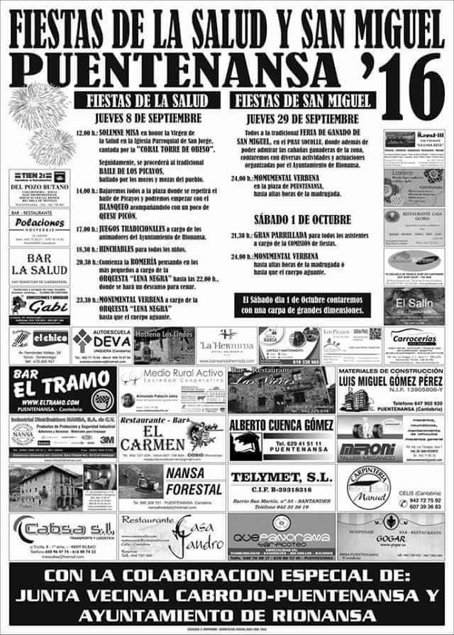 Fiestas de San Miguel 2016 en Puentenansa