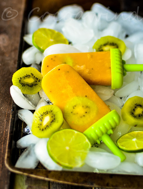 Mango Kiwi Popsicles: Ingredient of the Month ~ An Ode to Summer
