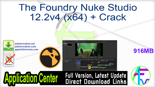 The Foundry Nuke Studio 12.2v4 (x64) + Crack
