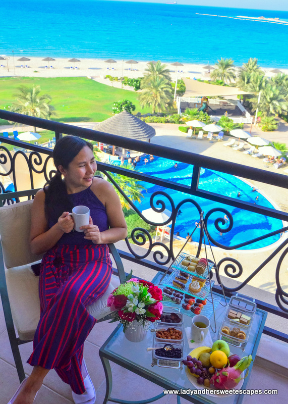 Danat Jebel Dhanna Resort balcony view