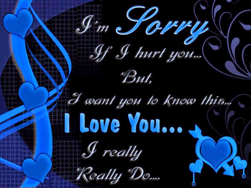 Sorry Saying Romantic Quote HD Wallpaper