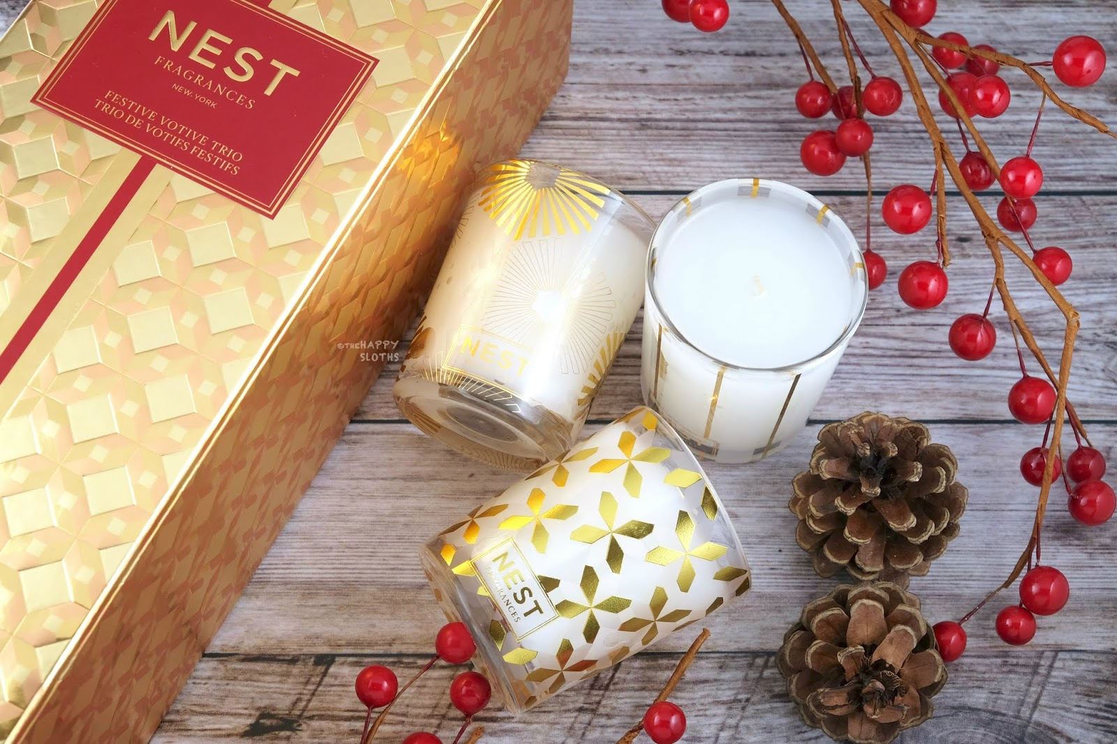 NEST Fragrances | Holiday 2019 Festive Votive Trio: Gift Guide
