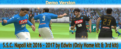 PES 2016 S.S.C. Napoli kit 2016-2017 by Edwin