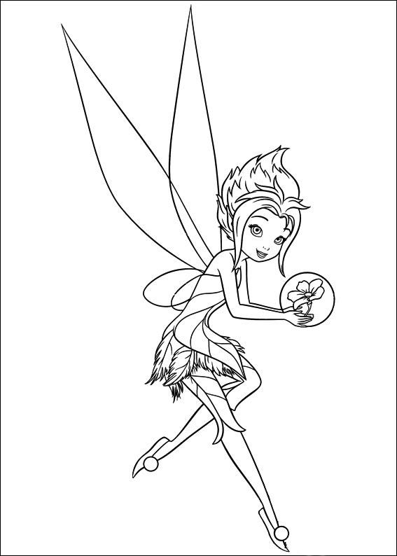 Dibujos De Tinkerbell Y El Secreto De Las Hadas Para Pintar