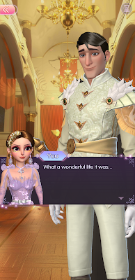 "Visual novel screenshot in which Princess Signy says to Prince Aldous ""What a wonderful life it was."""