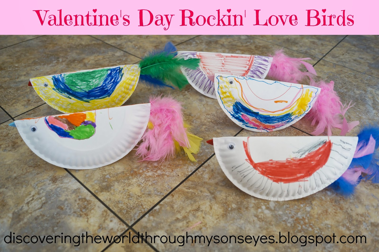 Valentine S Day Rockin Love Birds Kids Craft Discovering The