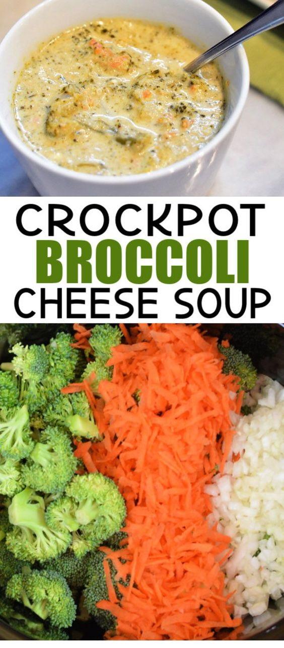 Crockpot Broccoli Cheese Soup