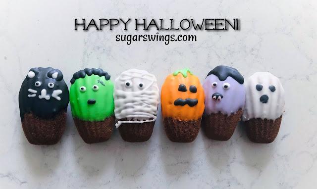halloween madeleine cookies