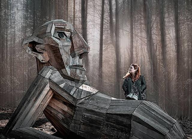 Những tác phẩm điêu khắc trong khu rừng Đan Mạch