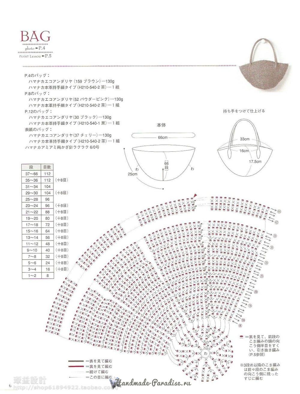 Вязание сумок из полиэтиленовой пряжи. Японский журнал (5)