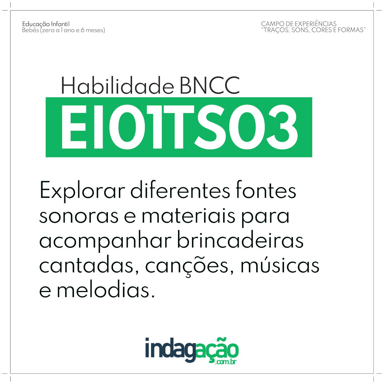 Habilidade EI01TS03 BNCC