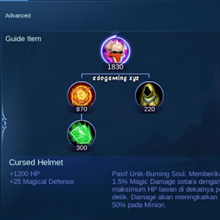 penjelasan lengkap item mobile legends item cursed helmet