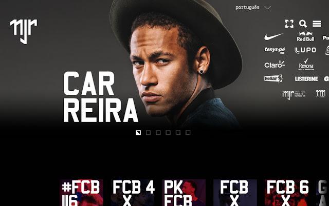 Neymar estrena web como parte de su estrategia