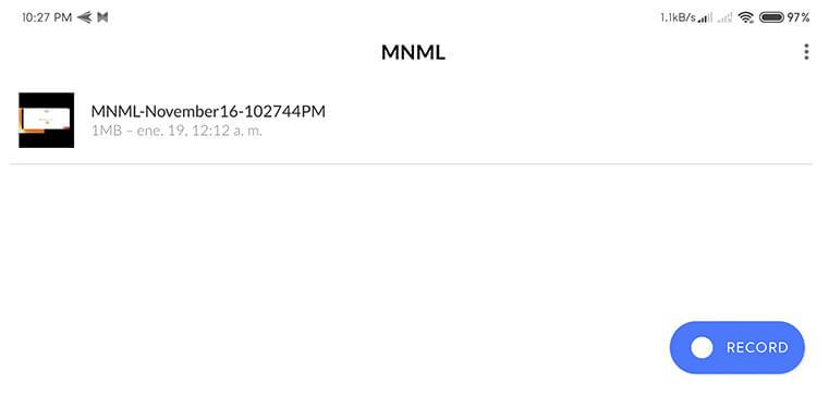 MNML Screen Recorder