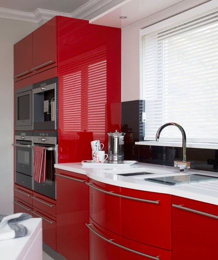 Cozinha vermelho