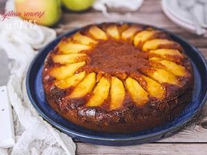 Gâteau renversé aux pommes healthy