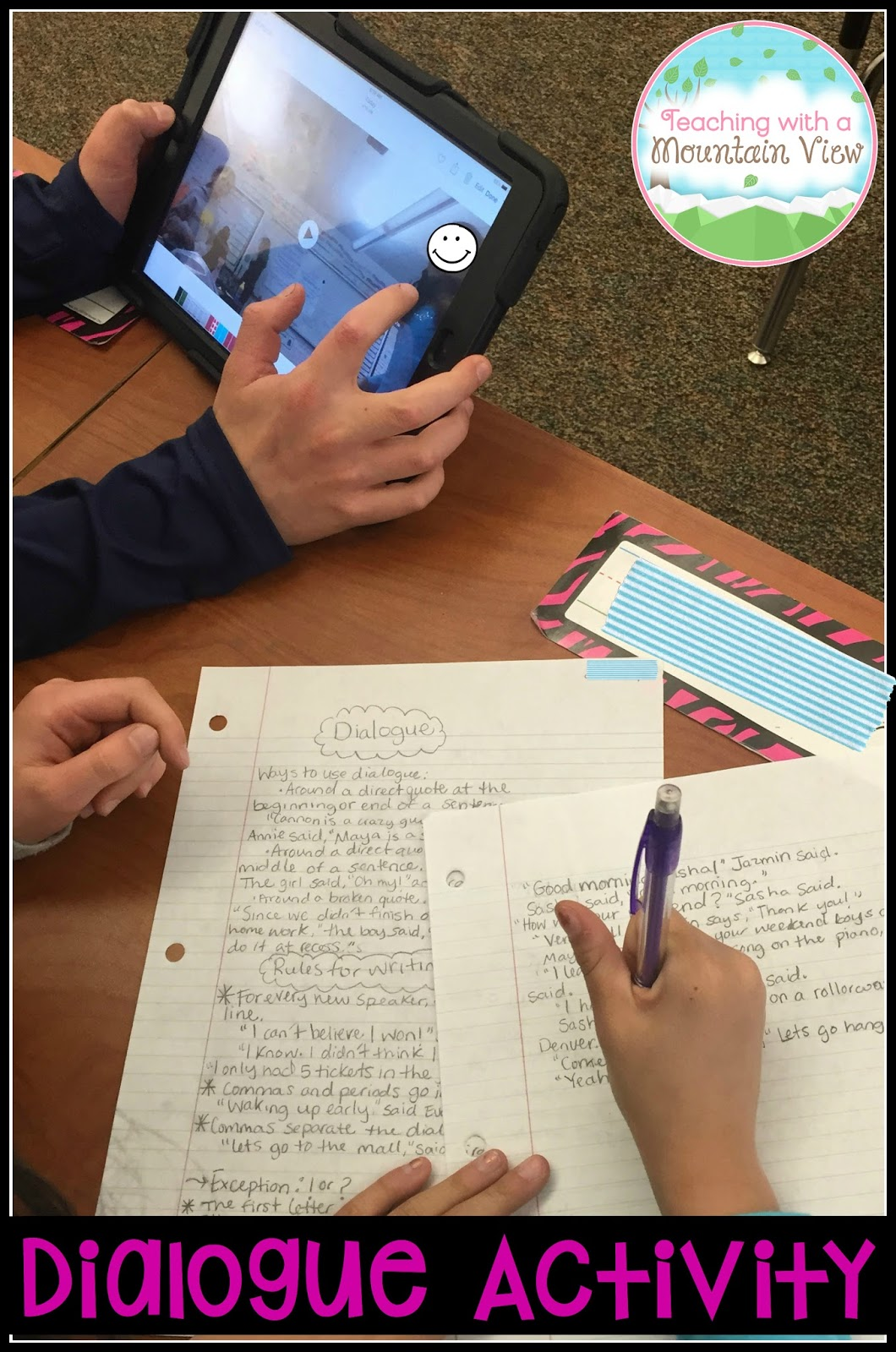 Teaching With A Mountain View Teaching Quotation Marks And Dialogue