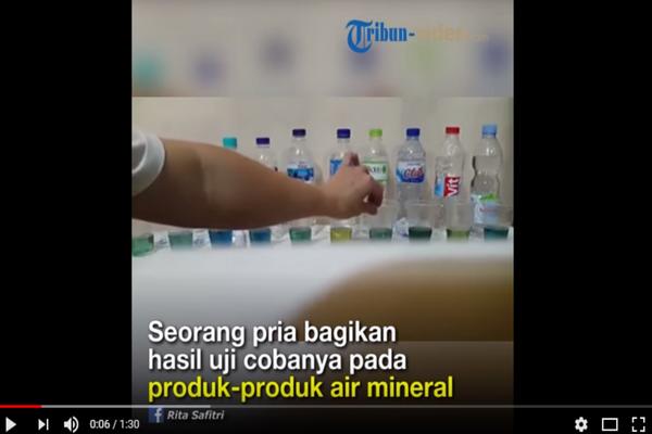 Lakukan Uji Coba 10 Produk Air Mineral, Pria ini Katakan