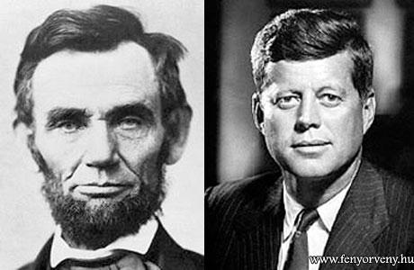 Hasonlóságok: Kennedy és Lincoln - 100 év különbséggel