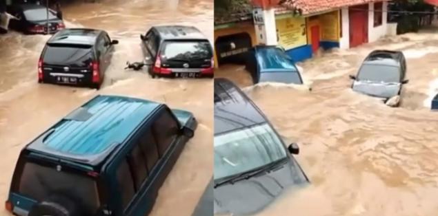 Sudah Tahu Alasan Kenapa Terjadinya Mobil Mengambang Saat Banjir?