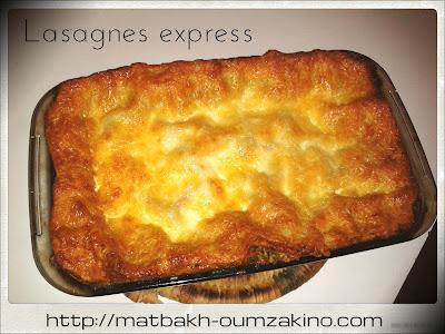 lasagnes bolognaise express rapide facile oumzakino