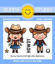 Sunny Studio Stamps Little Buckaroo Howdy Cowboy & Cowgirl Mini 2x3 Clear Photopolymer Stamp Set