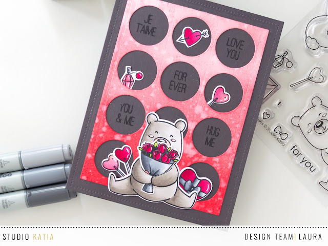 Valentine's day card feat Studio Katia - Close up