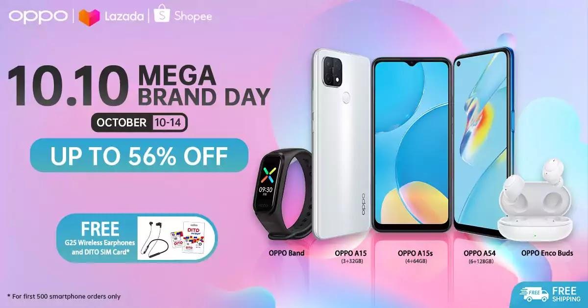 OPPO 10.10 Mega Sale on Shopee and Lazada