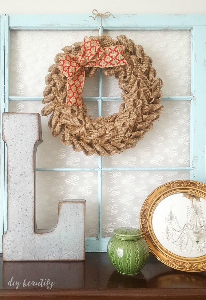 How To Make A Burlap Petal Wreath Diy Beautify