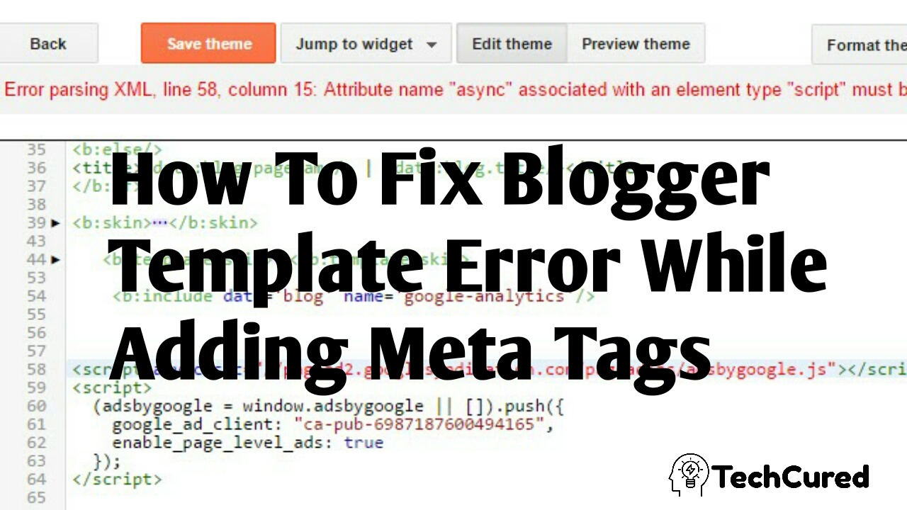 I Can't Add Meta Tags In My Blogger Template ! How To Solve This Problem?,how to solve meta tag problem in blogger | TechCured