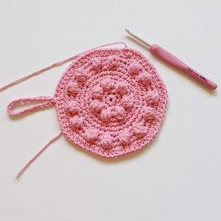 Photo of work in progress crochet dish cloth