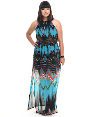 Chevron Print Ombre Maxi Dress She's Cool Dr Jays Front